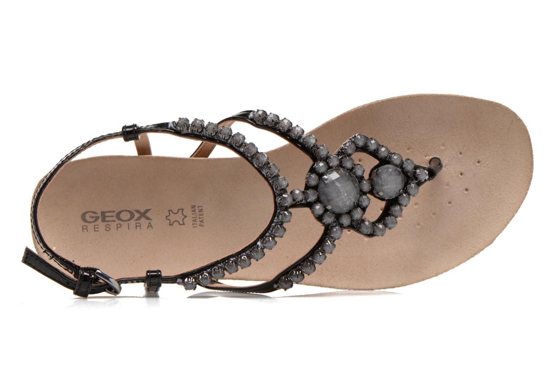 Sandales et nu-pieds Geox D VINCA F-D5297F Noir vue gauche