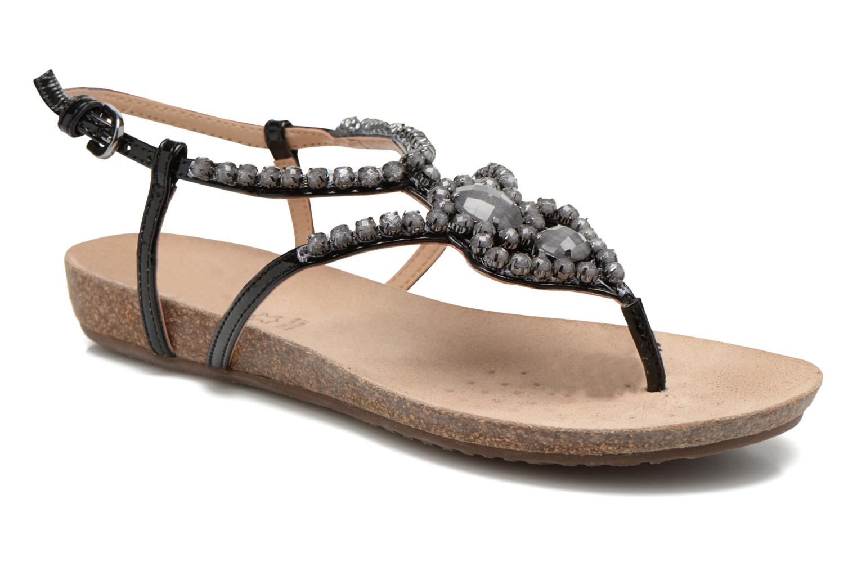 Sandales et nu-pieds Geox D VINCA F-D5297F Noir vue détail/paire