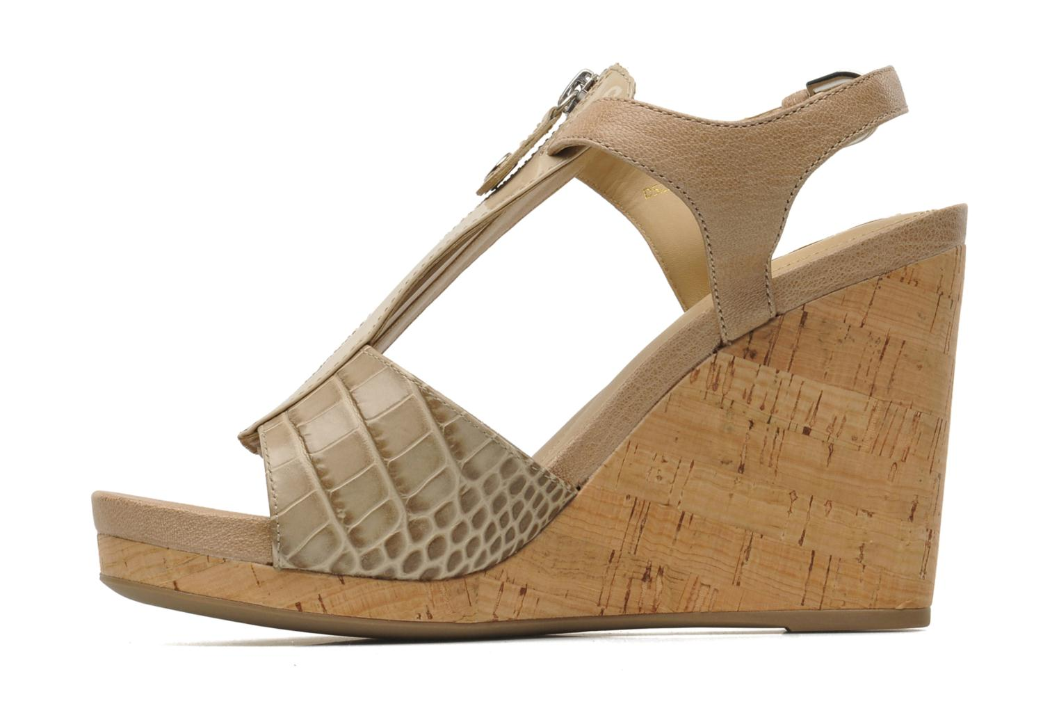 Sandals Geox D VICTORY F-D52P5F Beige front view