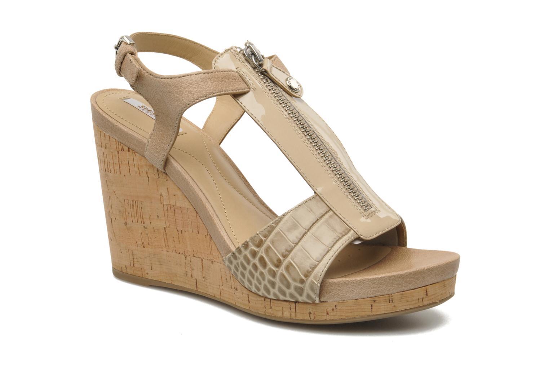 Zapatos promocionales Geox D VICTORY F-D52P5F (Beige) - Sandalias   Venta de liquidación de temporada