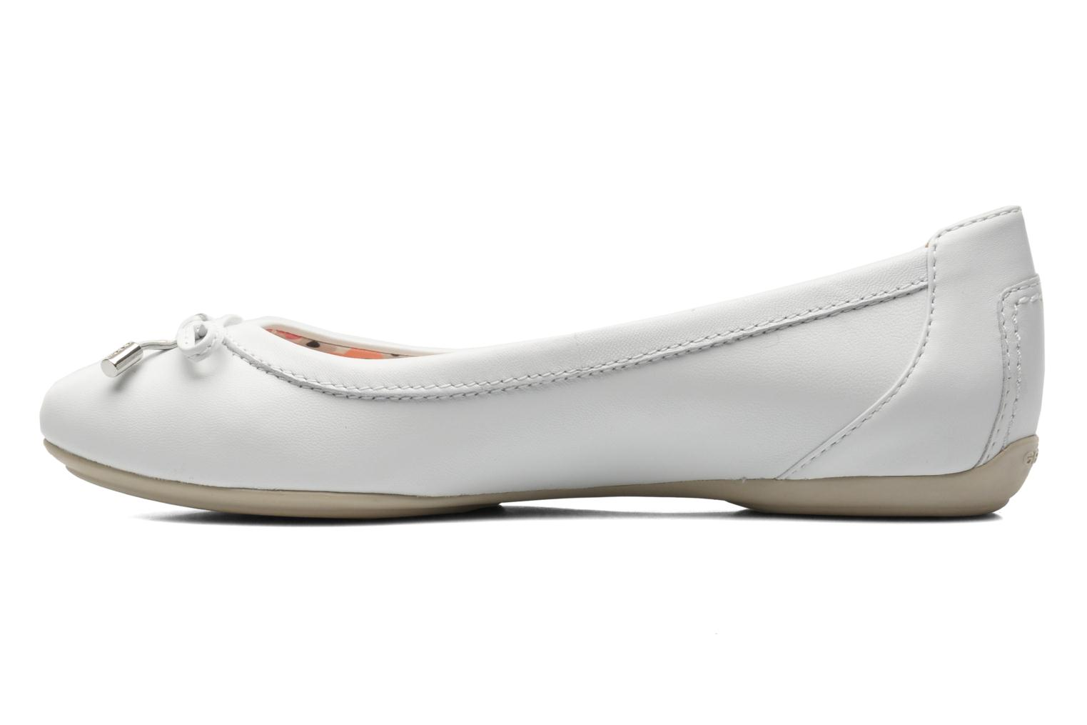 Ballet pumps Geox D CHARLENE A D32Y7A White front view