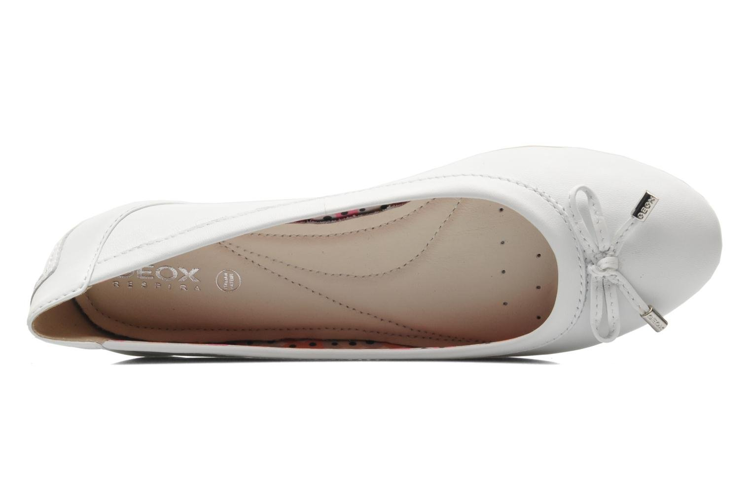 Ballet pumps Geox D CHARLENE A D32Y7A White view from the left