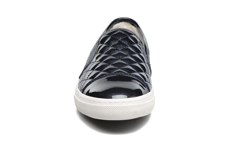 Baskets Geox D NEW CLUB C D5258C Bleu vue portées chaussures