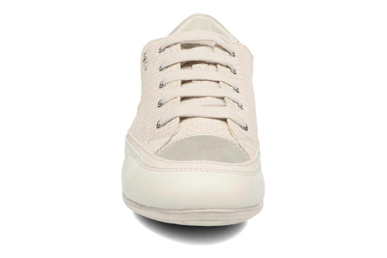 Baskets Geox D NEW MOENA D D5260D Blanc vue portées chaussures