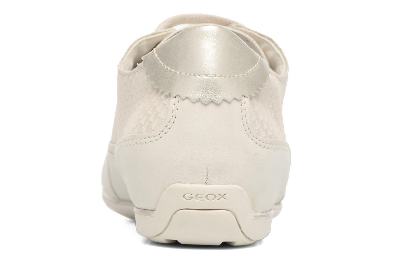 Baskets Geox D NEW MOENA D D5260D Blanc vue droite