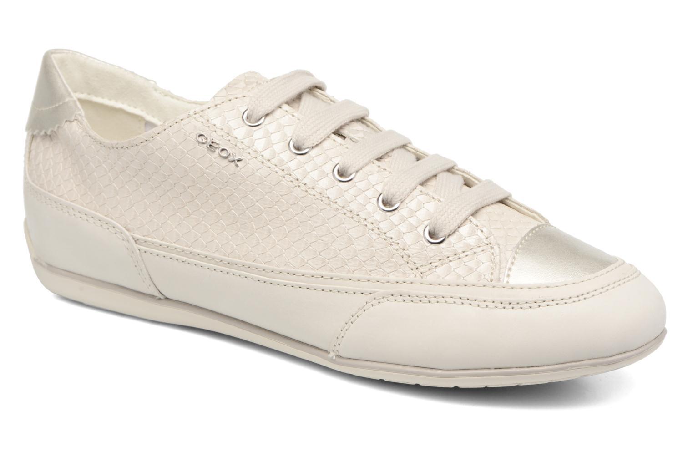 Baskets Geox D NEW MOENA D D5260D Blanc vue détail/paire