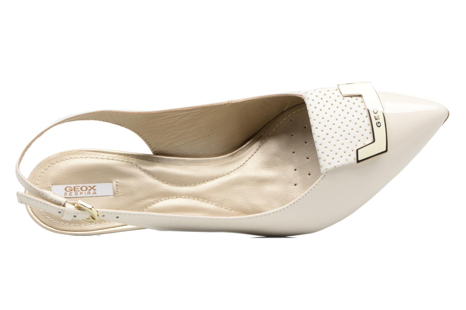 High heels Geox D ELINA D D52P8D White view from the left