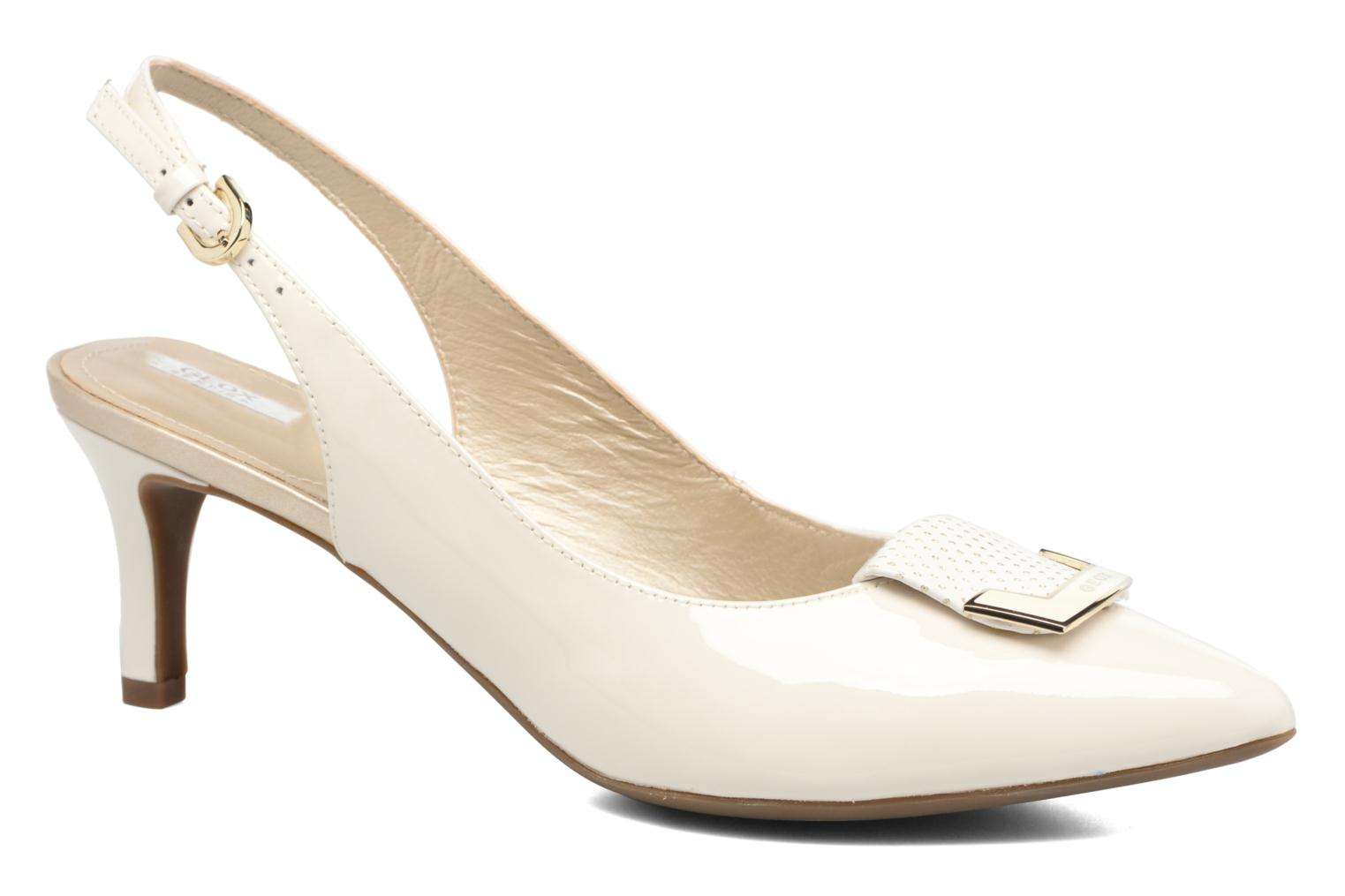 High heels Geox D ELINA D D52P8D White detailed view/ Pair view