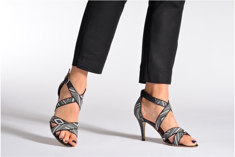 Sandales et nu-pieds Georgia Rose Tatoff Multicolore vue bas / vue portée sac