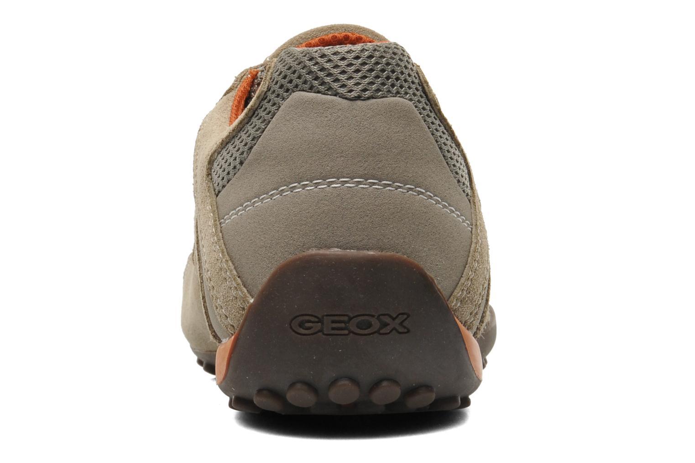 Baskets Geox U SNAKE L U4207L Beige vue droite