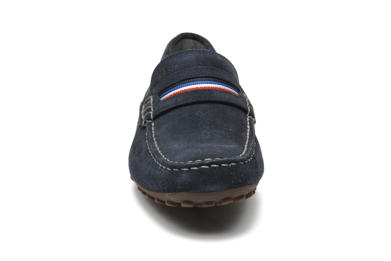 Mocassins Geox U SNAKE MOC A U5207A Bleu vue portées chaussures