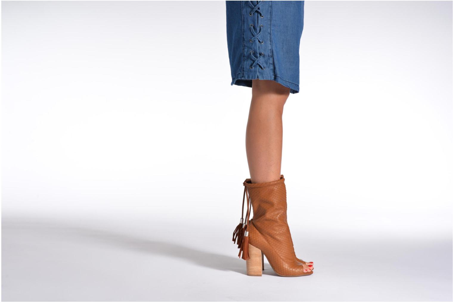 Ankle boots Geox By Patrick Cox D NOLINA A D5288A Brown view from underneath / model view