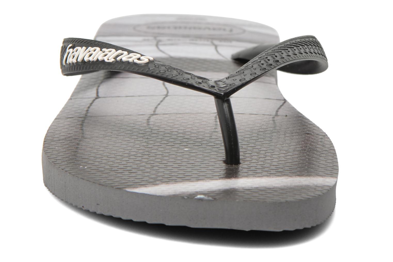Tongs Havaianas Hype Noir vue portées chaussures