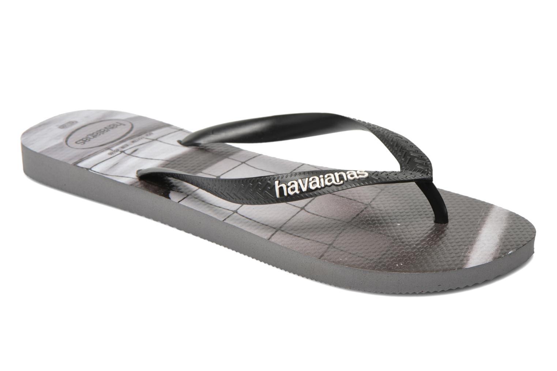 Tongs Havaianas Hype Noir vue détail/paire