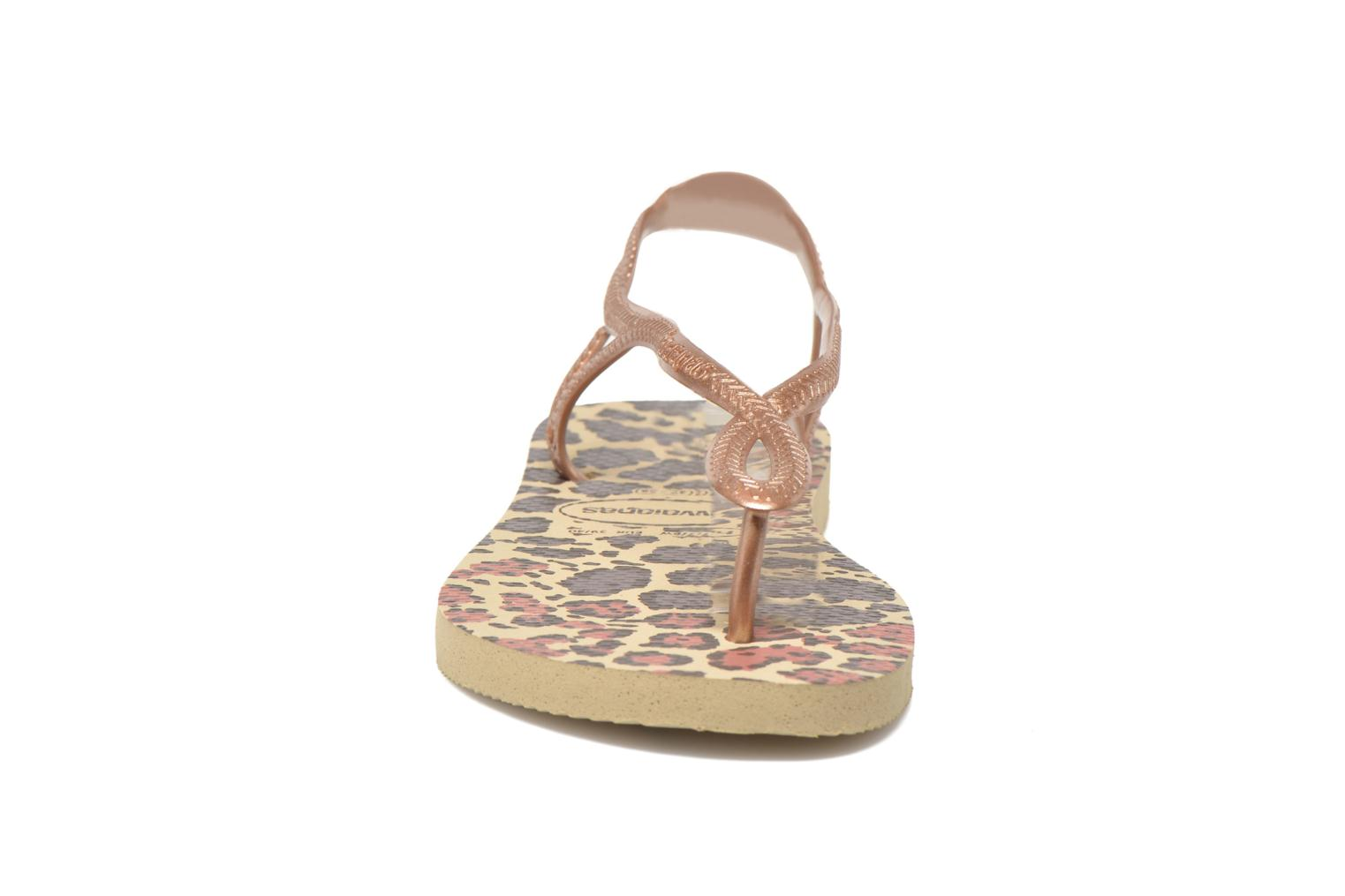 Sandals Havaianas Havaianas Luna Animals Bronze and Gold model view