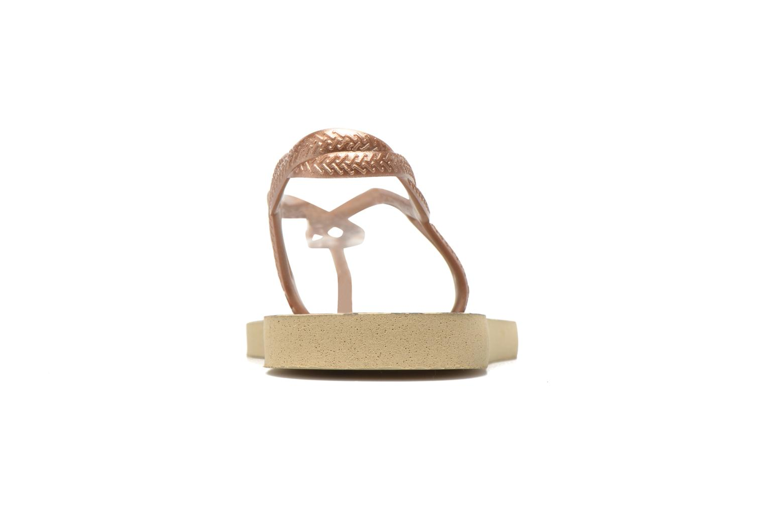 Sandals Havaianas Havaianas Luna Animals Bronze and Gold view from the right
