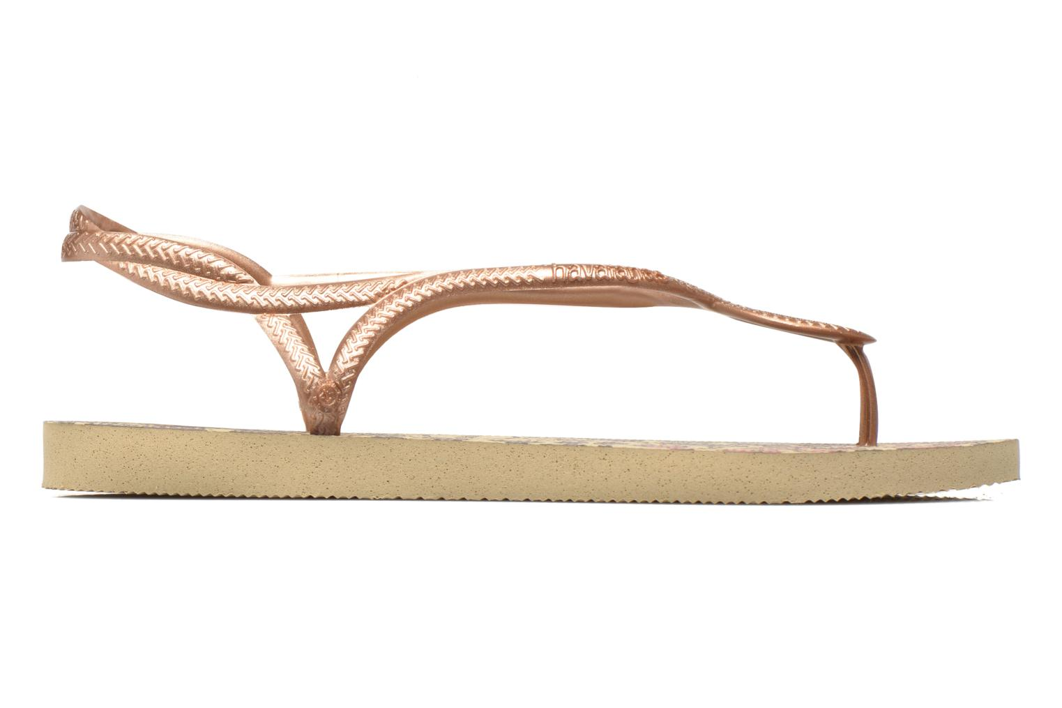 Sandals Havaianas Havaianas Luna Animals Bronze and Gold back view