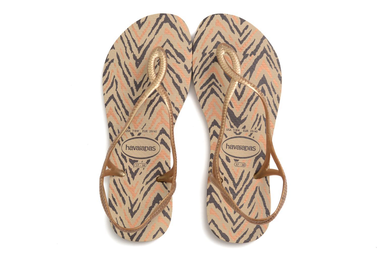 Sandales et nu-pieds Havaianas Havaianas Luna Animals Or et bronze vue 3/4