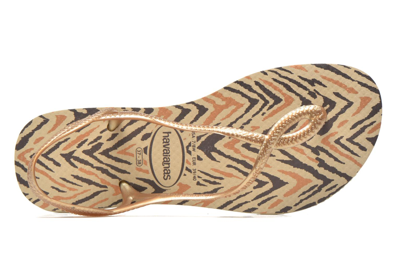 Sandals Havaianas Havaianas Luna Animals Bronze and Gold view from the left