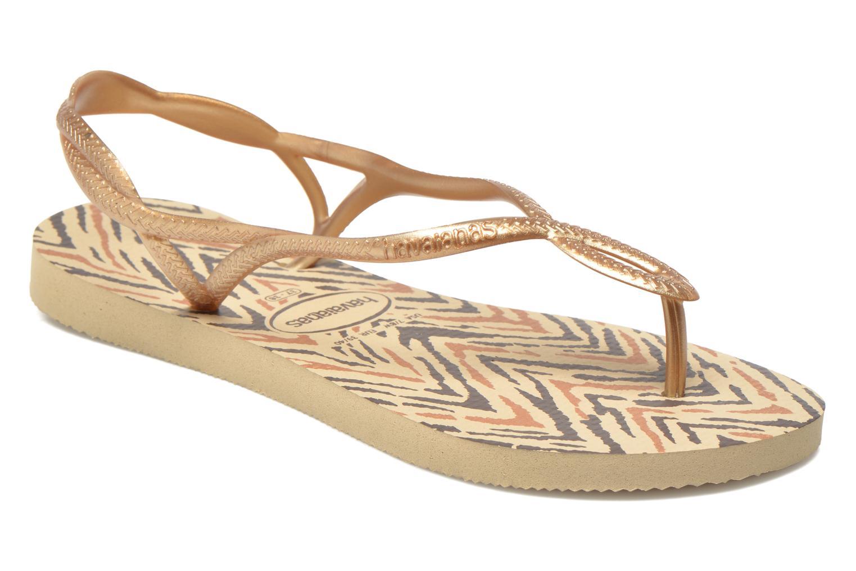 Sandales et nu-pieds Havaianas Havaianas Luna Animals Or et bronze vue détail/paire