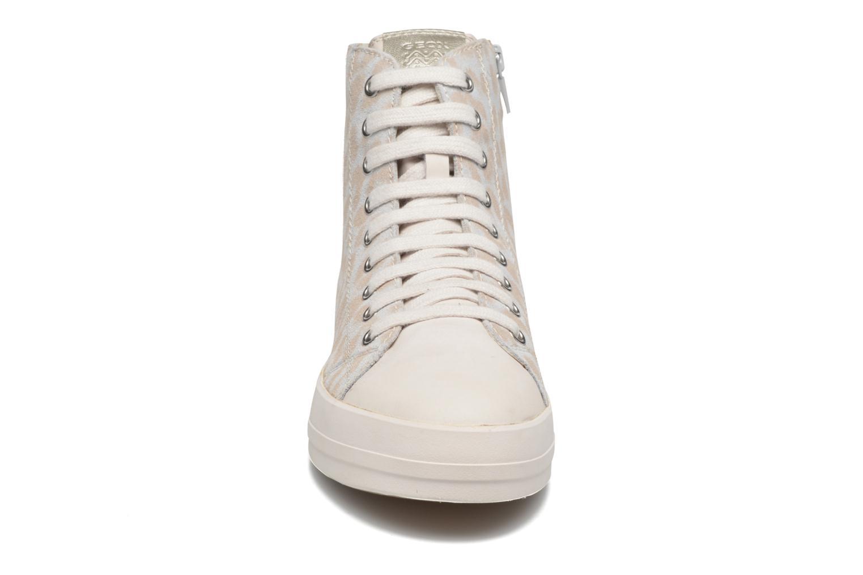 Baskets Geox D HIDENCE A D4234A Blanc vue portées chaussures