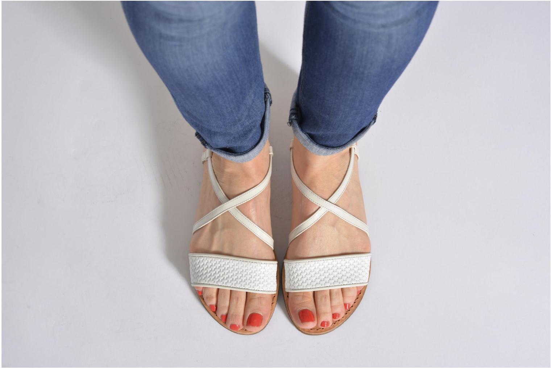 Sandalen Geox D JOLANDA A D5275A mehrfarbig ansicht von unten / tasche getragen