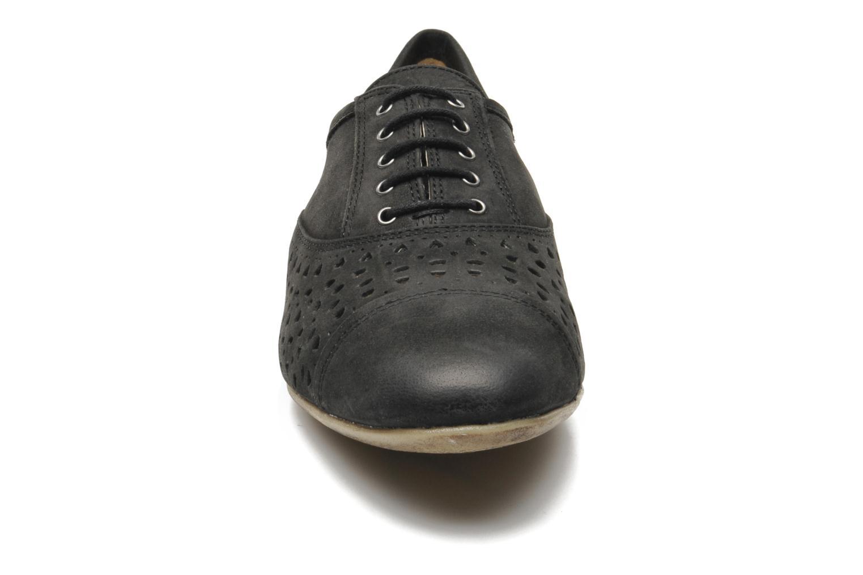 Schnürschuhe Geox D RITVA G D5278G schwarz schuhe getragen