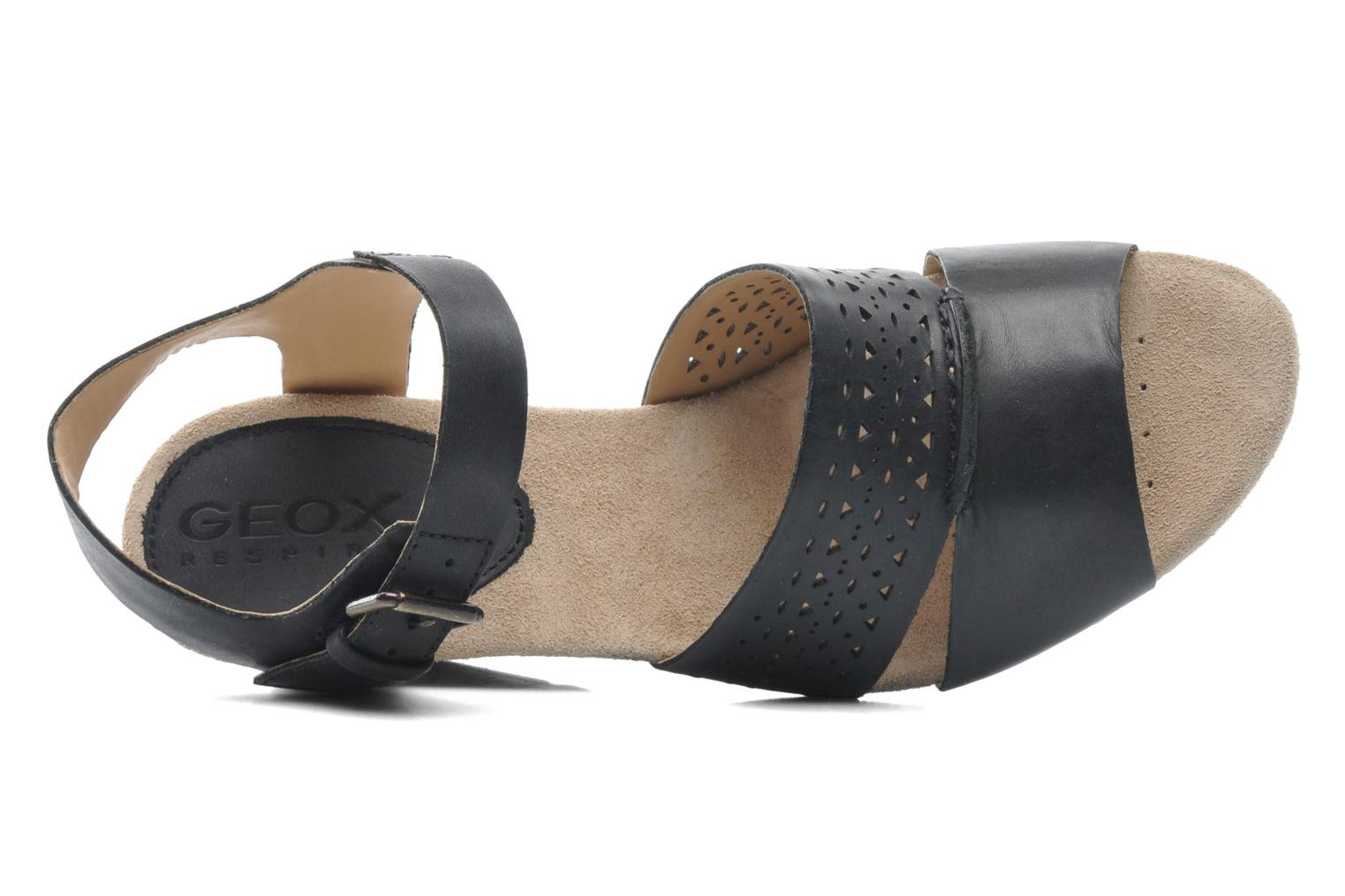 Sandals Geox D ALIAS A D52C3A Black view from the left