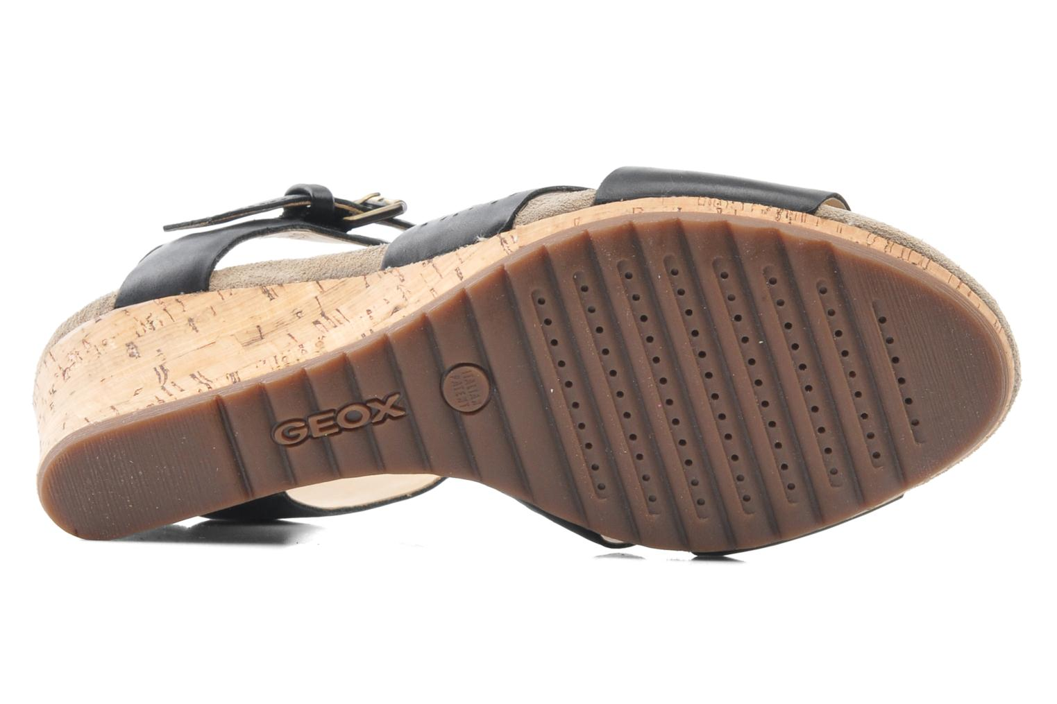 Sandals Geox D ALIAS A D52C3A Black view from above