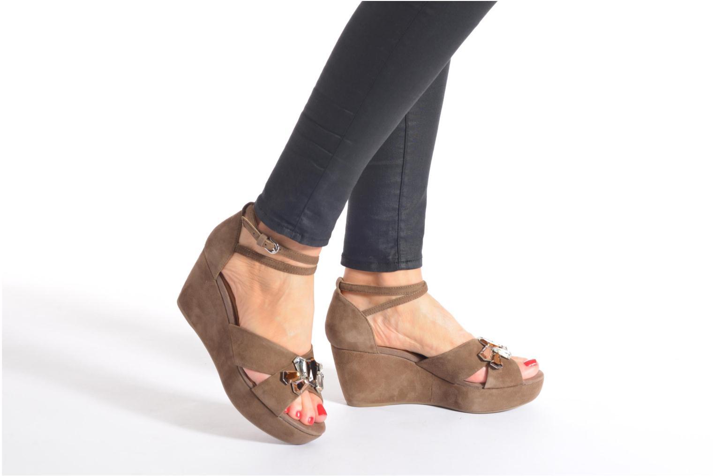 Sandales et nu-pieds Geox D THELMA A D52N9A Marron vue bas / vue portée sac