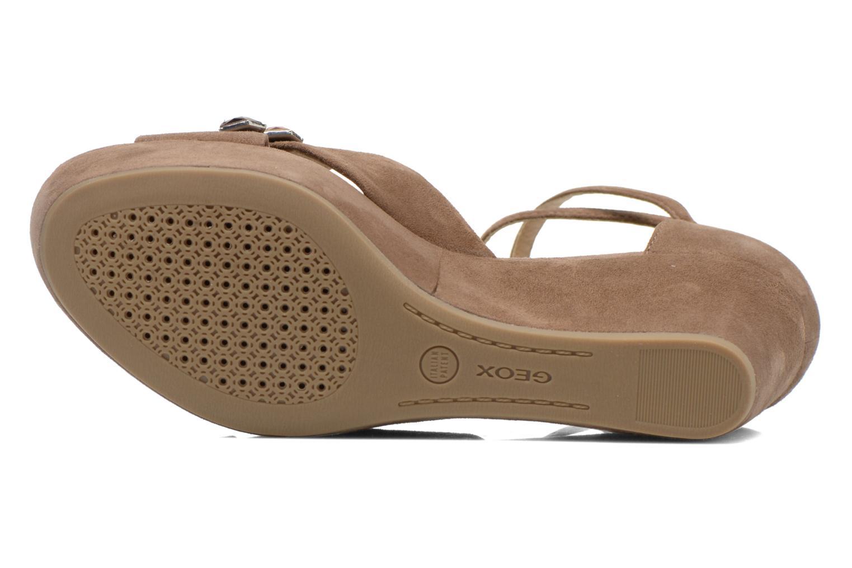 Sandales et nu-pieds Geox D THELMA A D52N9A Marron vue haut