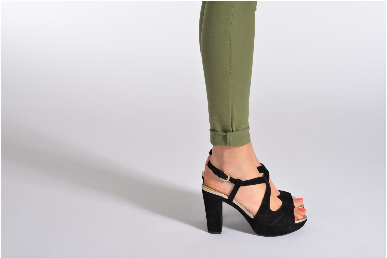 Sandales et nu-pieds Geox D HERITAGE B D52R1B Beige vue bas / vue portée sac