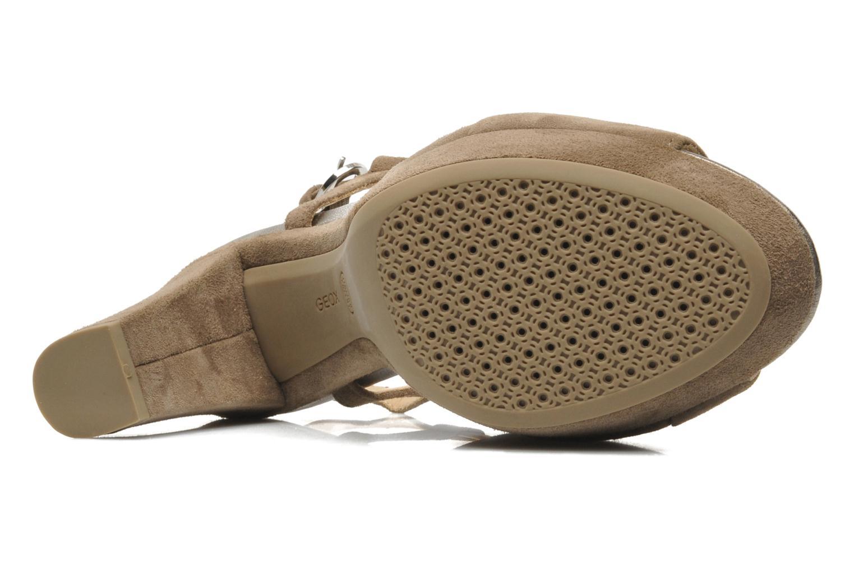 Sandales et nu-pieds Geox D HERITAGE B D52R1B Beige vue haut