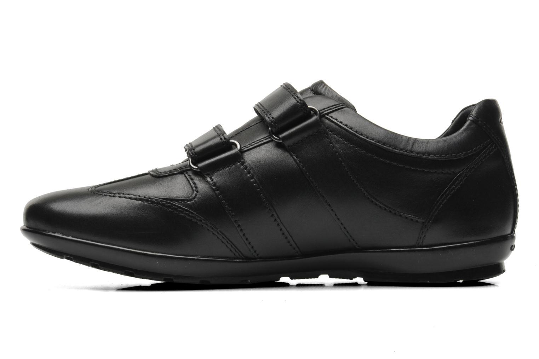 Sneaker Geox U SYMBOL D U32A5D schwarz ansicht von vorne