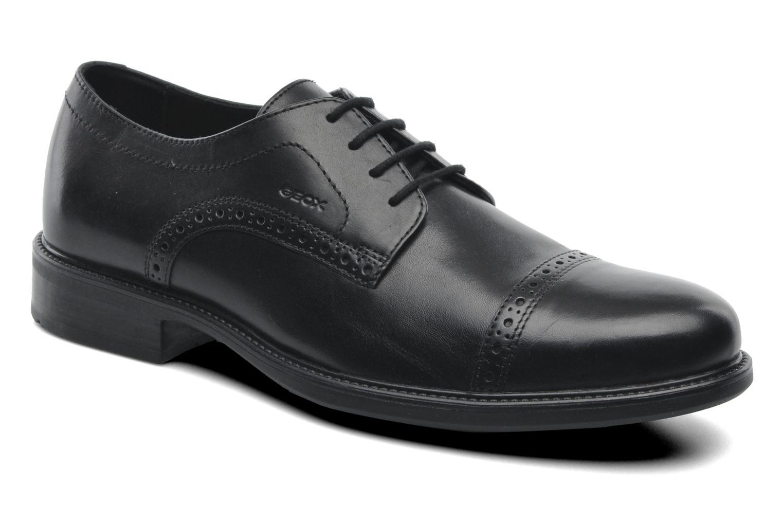 Chaussures à lacets Geox U CARNABY B U52W1B Noir vue détail/paire