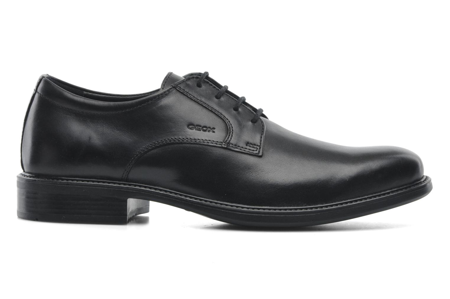 Lace-up shoes Geox U CARNABY D U52W1D Black back view