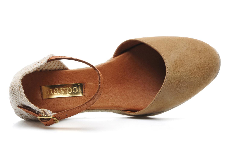 Sandales et nu-pieds Maypol Macaret Beige vue gauche