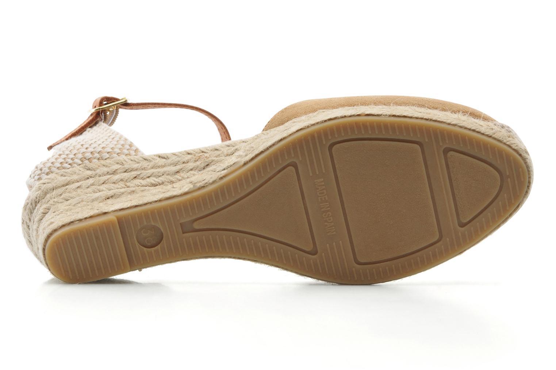Sandales et nu-pieds Maypol Macaret Beige vue haut