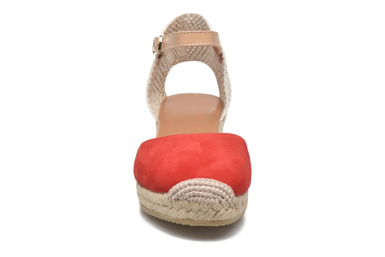 Sandales et nu-pieds Maypol Macaret Rouge vue portées chaussures
