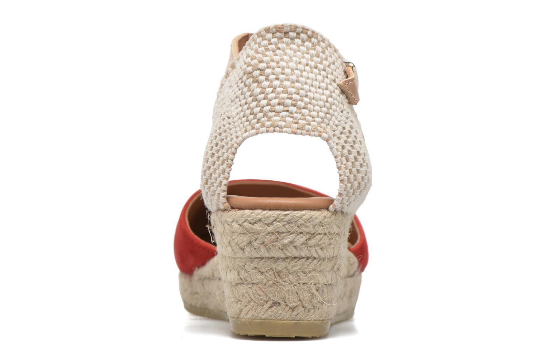 Sandales et nu-pieds Maypol Macaret Rouge vue droite