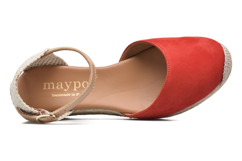 Sandalen Maypol Macaret rot ansicht von links