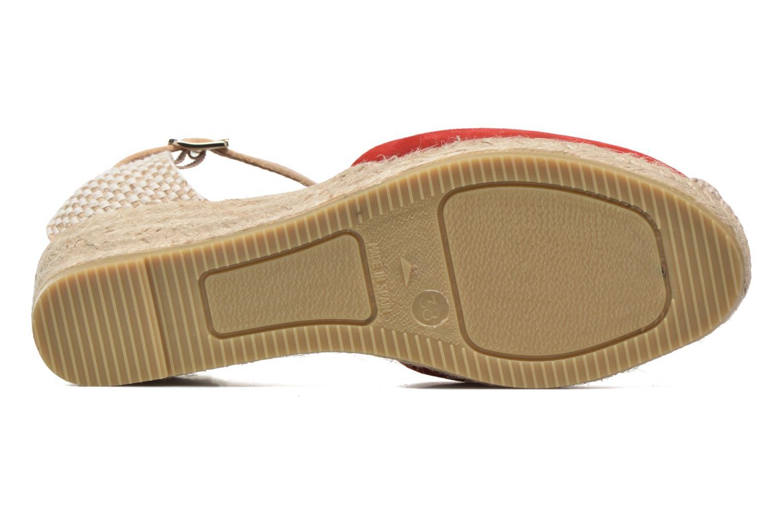 Sandales et nu-pieds Maypol Macaret Rouge vue haut