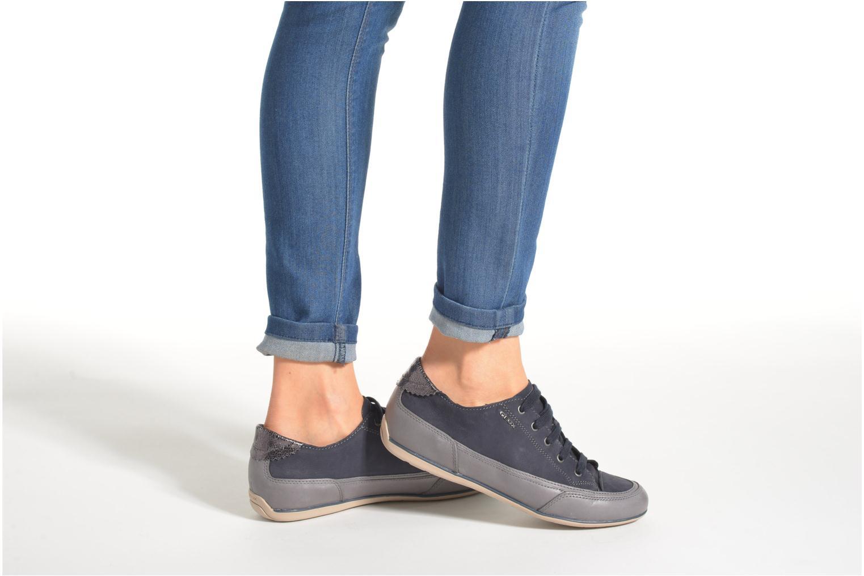 Sneakers Geox D New Moena A D4260A Azzurro immagine dal basso