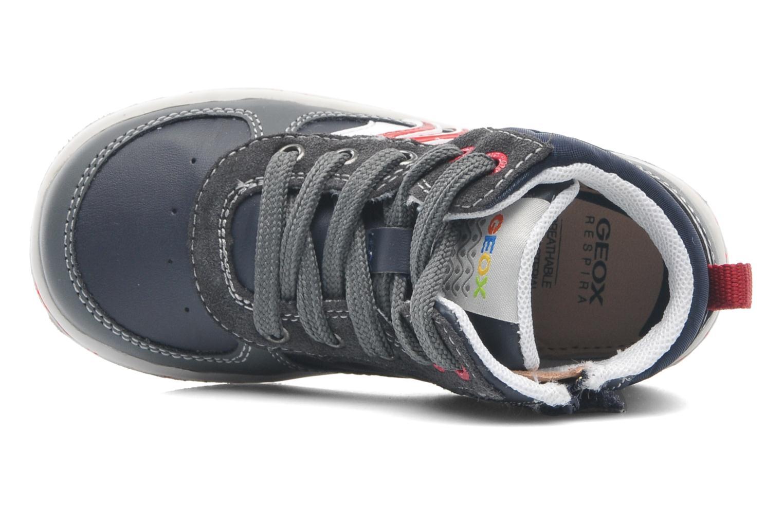 Sneaker Geox Baby Flick Boy A B4437A blau ansicht von links
