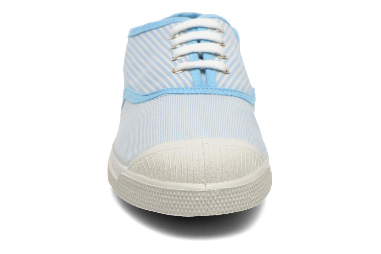 Baskets Bensimon Tennis Bistripes Bleu vue portées chaussures