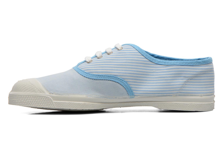 Baskets Bensimon Tennis Bistripes Bleu vue face