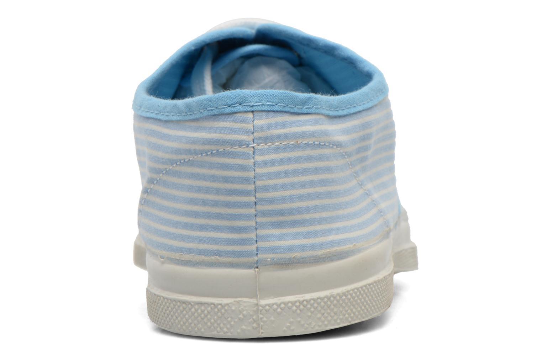 Baskets Bensimon Tennis Bistripes Bleu vue droite