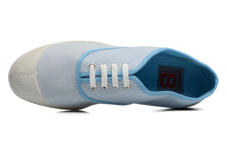 Baskets Bensimon Tennis Bistripes Bleu vue gauche