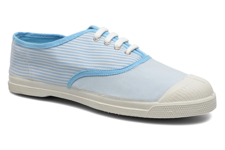 Baskets Bensimon Tennis Bistripes Bleu vue détail/paire