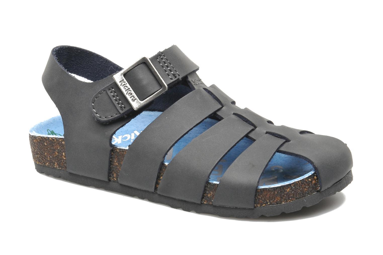 Sandales et nu-pieds Kickers MAGIFLO Gris vue détail/paire